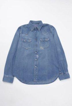 画像1: BLUE BLUE(ブルーブルー) ST814 オールドスクール ウエスタンシャツ