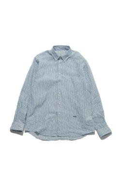 画像1: San Francisco    インディゴリネン BDシャツ