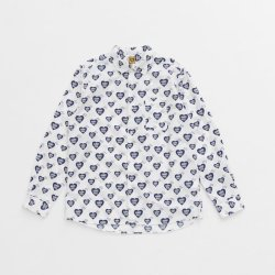 画像1: HUMAN MADE  HEART PATTERN SHIRT